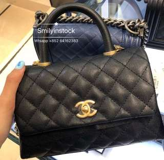 Chanel Coco Handle Small Size 黑金色