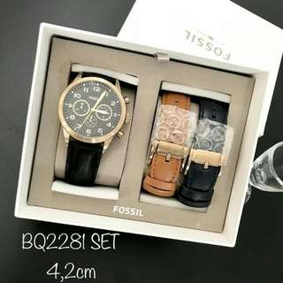Fossil Watch Set 2 leather strap