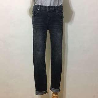 🚚 全新,正韓貨,極瘦簡約刷色窄管褲,合身褲,29,黑灰
