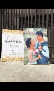 Wedding Signboard Announcement and Direction Board