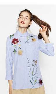 Zara inspired Embroidery Top