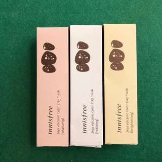 🇰🇷innisfree volcanic colour clay masks