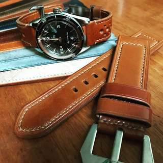 Leather Strap - Shell Cordovan whiskey tanned Colour - 26mm for Panerai