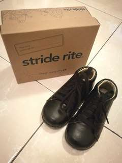 Stride Rite black boy shoes