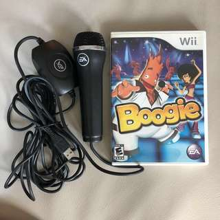 Wii Boogie game and microphone