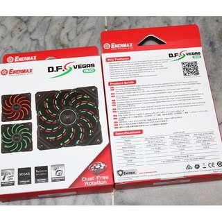 保銳 ENERMAX 12公分 電腦風扇 D.F.VEGAS DUO 雙色維加斯電競蝠 UCDFVD12P