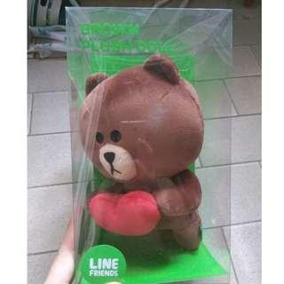 全新 Line Friends Brown 熊大 心心 公仔禮物 gift