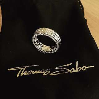 Thomas Sabo Double Row Cubic Zirconia Ring