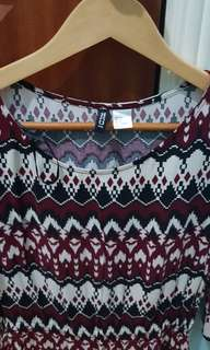 H&M Red Patterned Dress