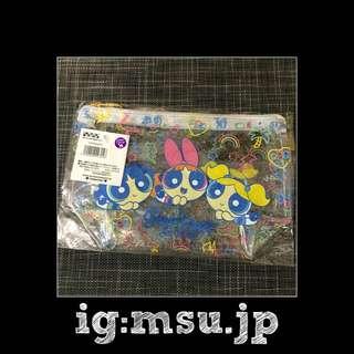 日本 飛天小女警 化妝袋 筆袋 全新