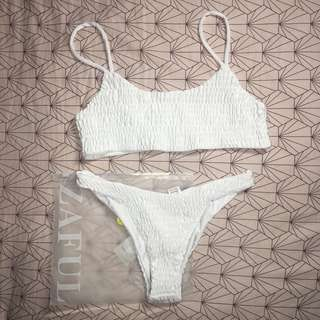 ZAFUL Smocked bikini white M
