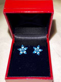 925純銀水晶 Earrings