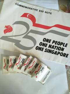 Sg old notes  and coins  7items offer $128