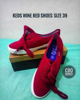 Keds Wine Red Shoes