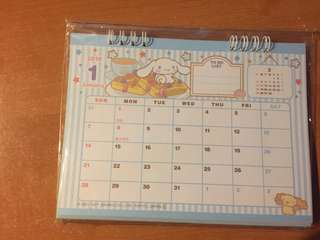 2018 Sanrio Cinnamorroll Calendar