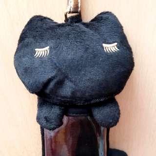 ($100/3件) 日本 雜誌袋 Tsumori Chisato黑貓公仔 掛飾 吊飾 咭片套 卡片套 匙扣 lolita black cat