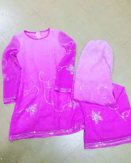 Lace Saree Baju Kurung for age 12 to 13