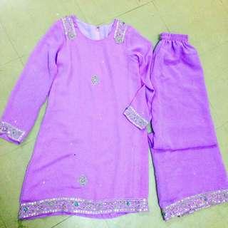 Baju Kurung Moden Lace Saree Material