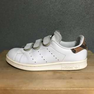 Adidas Stan Smith Velcro Trainers with Faux Snakeskin