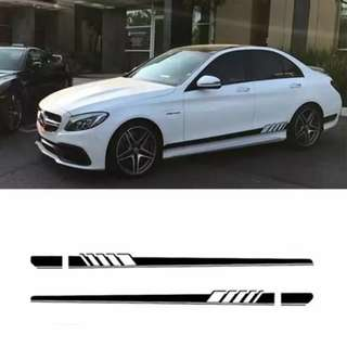 car sideline stickers amg style Mercedes