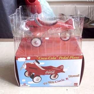 90年代產品可口可樂迷你紅色飛機擺設一架