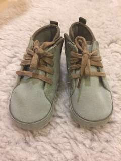 USED - Blue Turquoise & Brown Prewalker Shoes