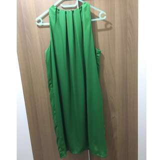Zara 綠色裙 green dress