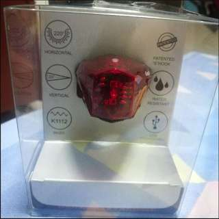 BNIB BRAND NEW USB Rechargable Red Rear Light