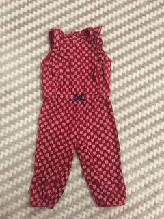 Carters Red Jumpsuit