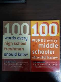 100 words every middle schooler / high school freshman should know