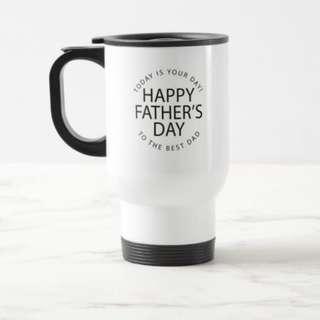 Personalised Name Custom Made Travel Portable Mug Father's Day Gift