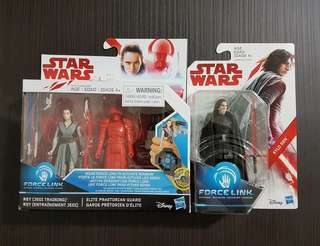 "Hasbro Star Wars Last Jedi 3.75""- Rey + Red Guard + Kylo Ren"