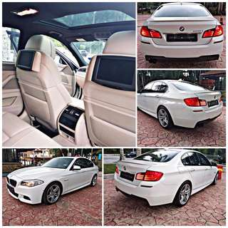 SAMBUNG BAYAR/CONTINUE LOAN  BMW F10 528 M SPORT TWIN TURBO YEAR 2011/2014 MONTHLY RM 3500 BALANCE 3 YEARS ROADTAX VALID TIPTOP CONDITION  DP KLIK wasap.my/60133524312/ f10