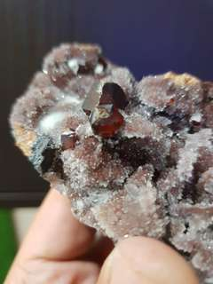 Raw Red Garnet Crystal from India 石榴石(印度)