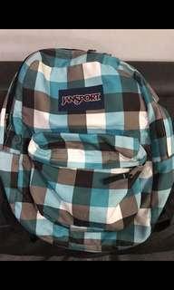 Jansport Backpack Checkered Light Blue