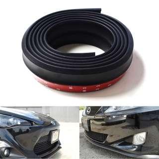 PU Carbon Fiber Front Bumper Spoiler (8ft) matte black