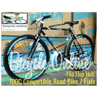 "Xtreme 700C Convertible Road Bike / Fixie ☆ 19.5"" Frame ☆ Flip Flop Hub: Convert Fix Wheel or Free Wheel as you wish! ☆ Brand New Bicycle"