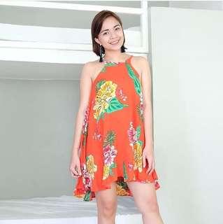 Floral Halter Summer Dress