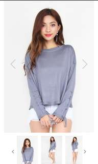 statementmuse sky blue knit sweater