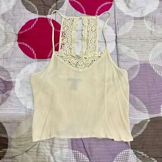 Forever21 Semi Backless Top