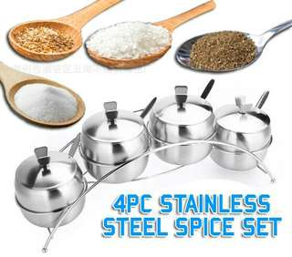 Stainless steel spice set (pcs)