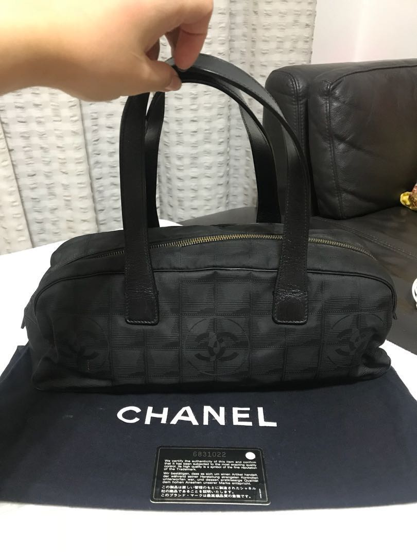 37e5a4c80779 Authentic Chanel travel line mini boston bag, Luxury, Bags & Wallets ...