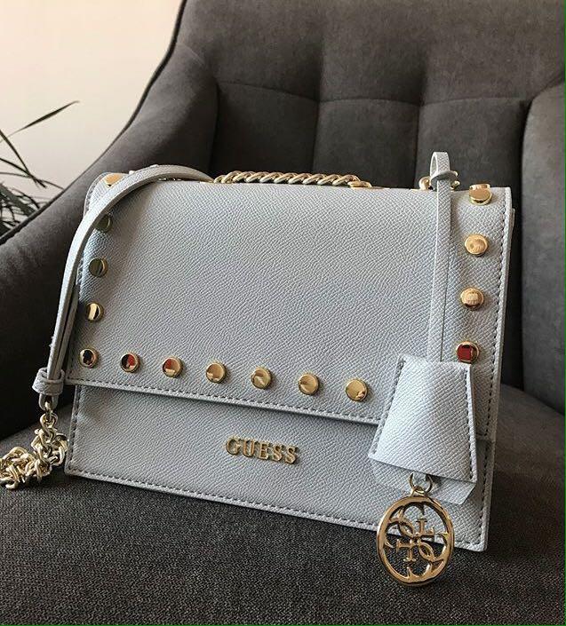 9898d5ee4262 AUTHENTIC GUESS Catey Stud Crossbody Handbag