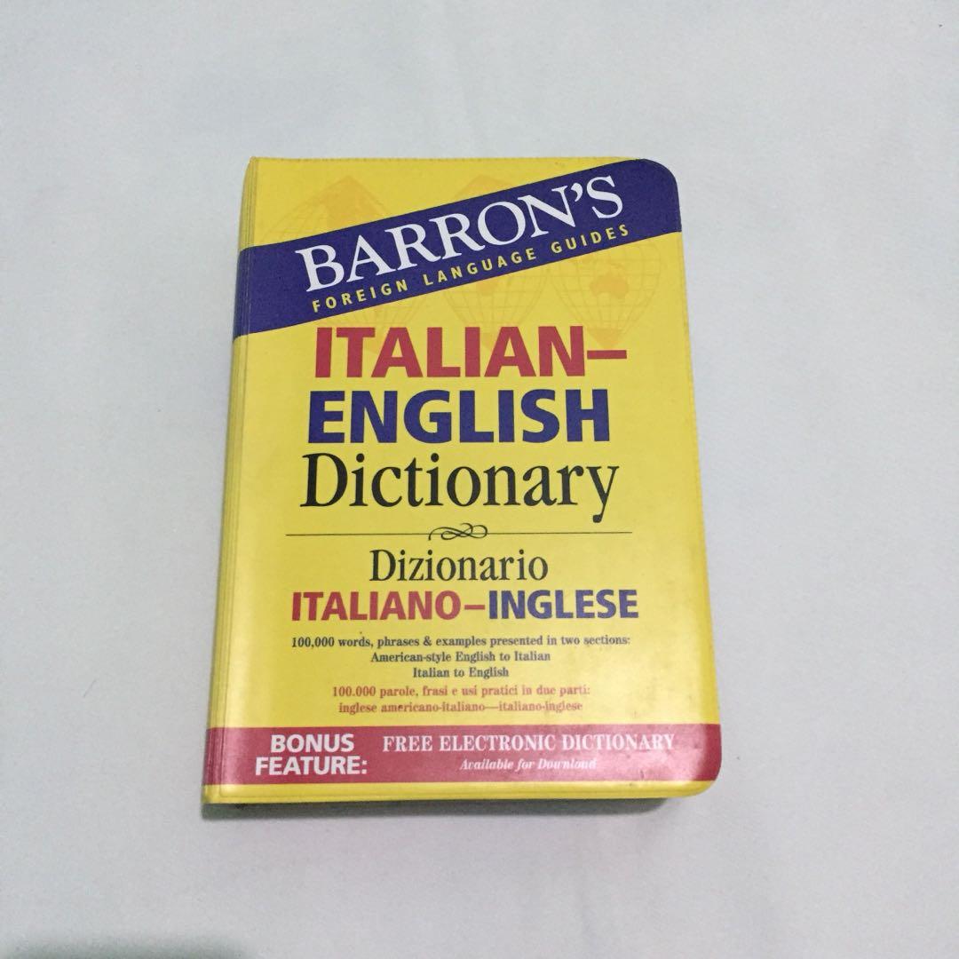 Barron's English Italian Dictionary