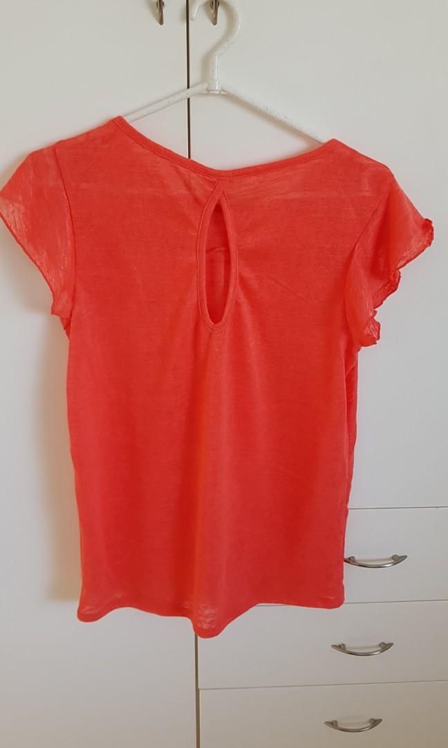 Bloody orange woolen shirt