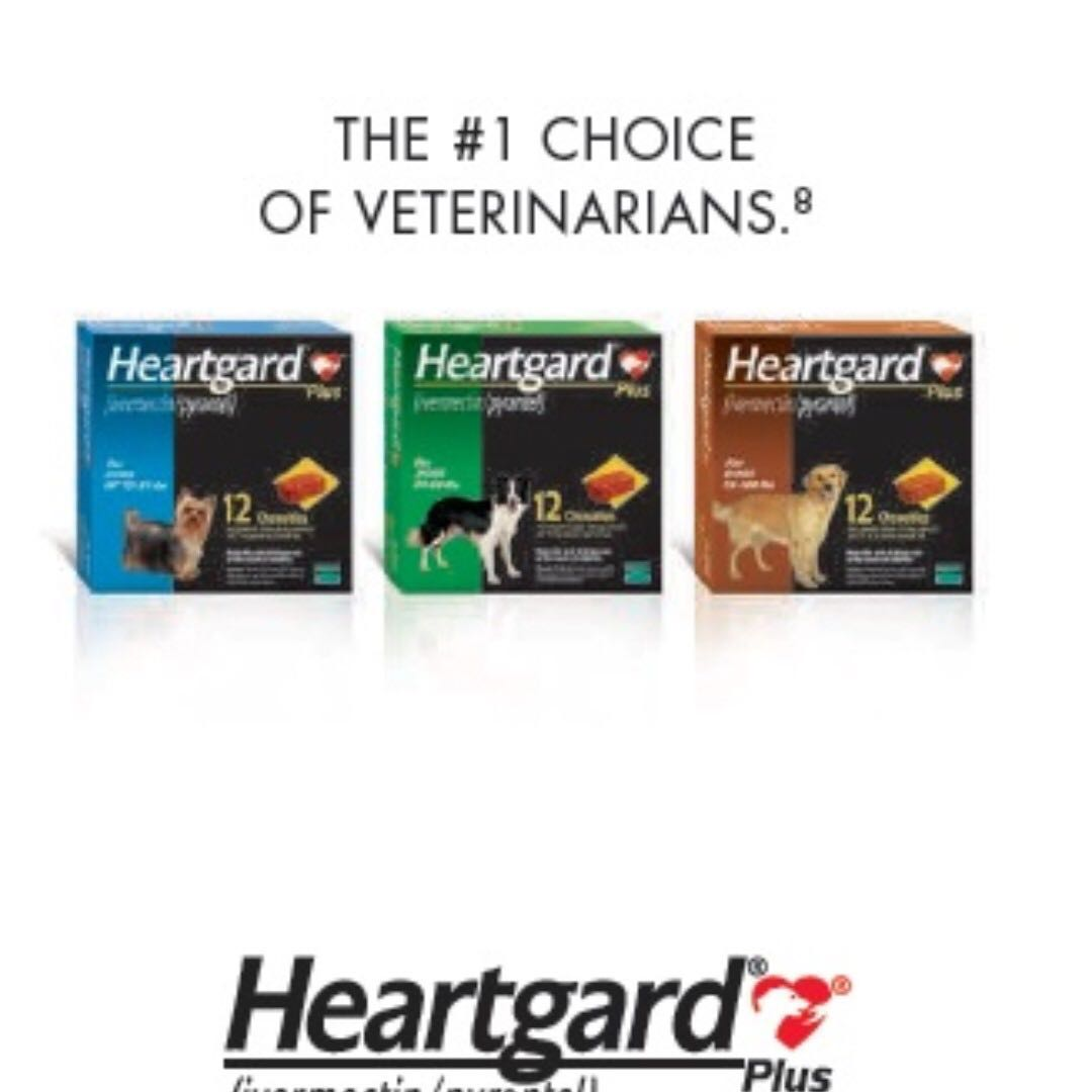 MAILED NEW STOCK Heartgard Plus For Large Dogs 51100 lbs Brown