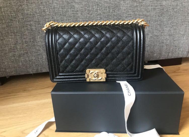 790d695957ac Chanel boy bag, Women's Fashion, Bags & Wallets, Handbags on Carousell
