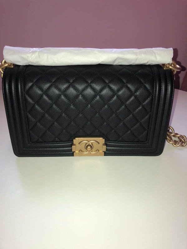 583428bf4b158d Chanel Boy Caviar with GHW, Luxury, Bags & Wallets, Handbags on ...