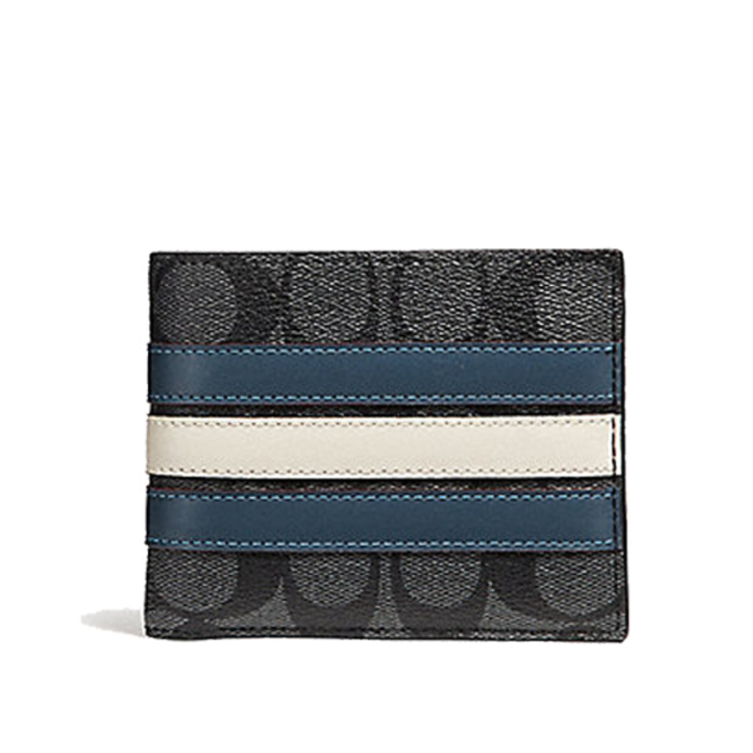 1869baba5c38 Coach 3-in-1 Wallet In Signature Canvas With Varsity Stripe Latest ...