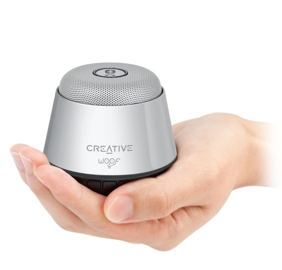(BN) Creative Woof Portable Micro Wireless Speaker in Silver